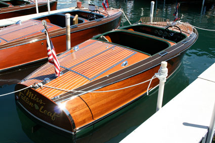 Walnut covering boards on these boats are optional on Barina Craft's home bars.