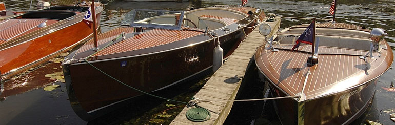 Three classic wooden boats. Compare their features to nautical bar designs.