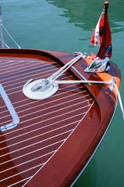 Barina Craft's recessed bar top uses the whole covering board vs. partially as in this boat's bow molding.